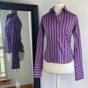 Thomas Pink Purple striped button-down, size 6